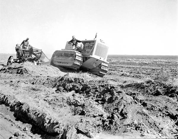 Bulldozer Photograph - Levelling Farm Fields by Library Of Congress