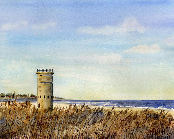 Delaware Painting - Lewes Tower by Patti Bishop