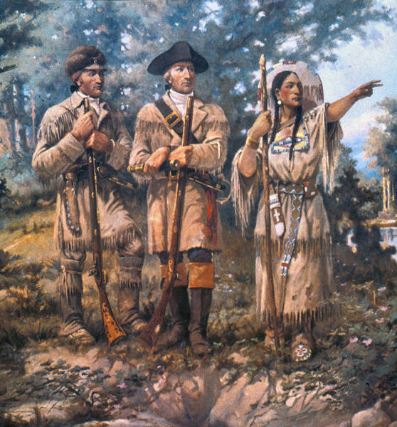 Samuel Lewis Wall Art - Painting - Lewis And Clark, 1805 by Granger