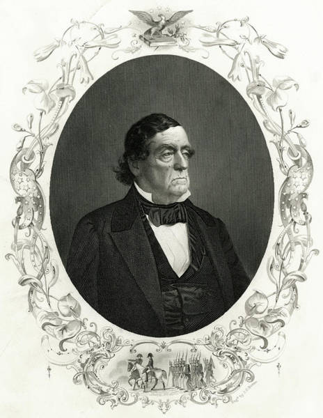 Cass Wall Art - Drawing - Lewis Cass (1782-1866) American Soldier by Mary Evans Picture Library