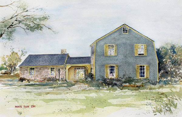 Painting - Lewis Price Family Home by Monte Toon