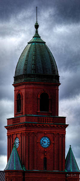 Photograph - Lewiston City Hall Skyline by Bob Orsillo