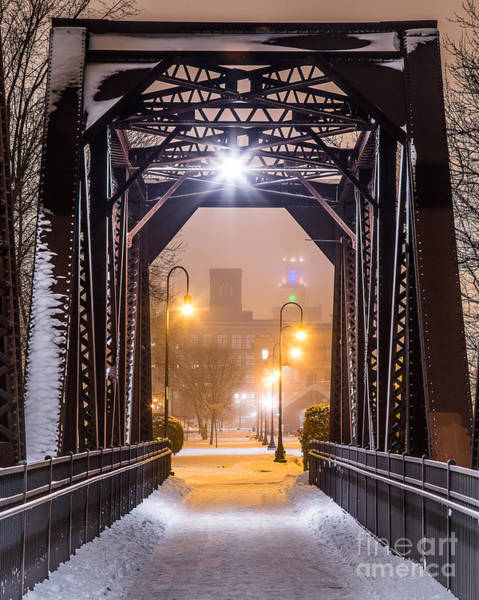 Lewiston Photograph - Lewiston From The Walking Bridge by Benjamin Williamson