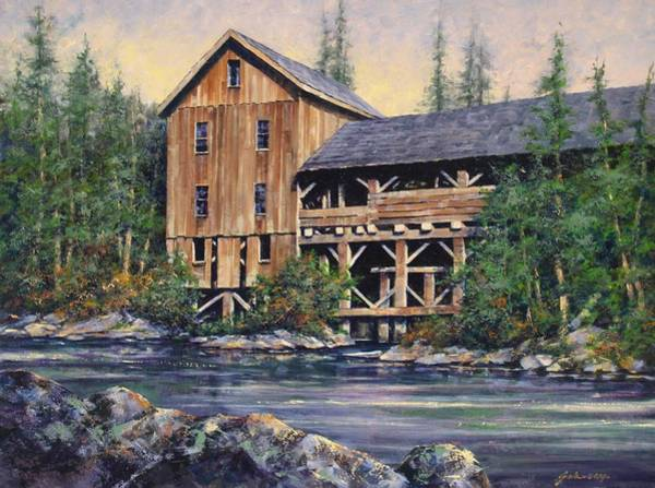 Rivers Wall Art - Painting - Lewisville Grist Mill Afternoon by Jim Gola