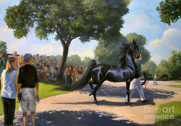 Wall Art - Painting - Lexington Stallion Tour by Jeanne Newton Schoborg