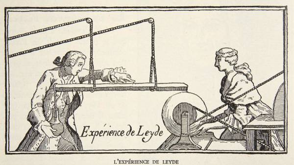 Scientist Drawing - Leydes Experiment, Copy By Boris by French School