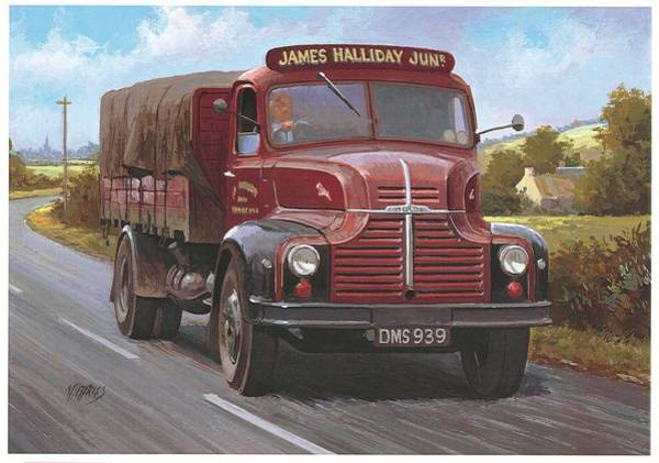 Wall Art - Painting - Leyland Comet 1948 by Mike Jeffries