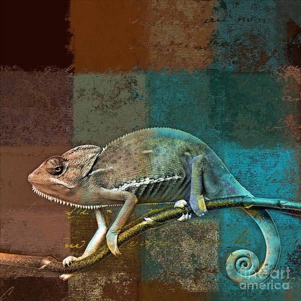 Wall Art - Digital Art - Lezardin - J131131149v5bcr by Variance Collections
