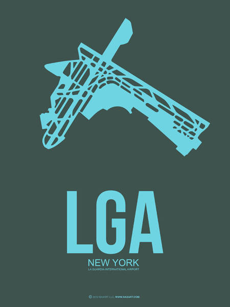 York Digital Art - Lga New York Airport 3 by Naxart Studio
