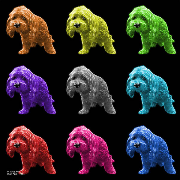 Painting - Lhasa Apso Pop Art - 5331 - Bb - M by James Ahn