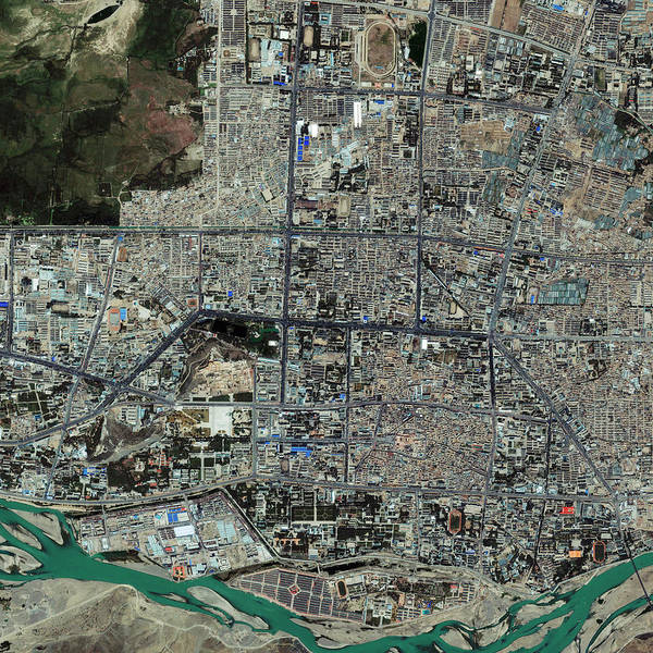 Tibet Photograph - Lhasa by Geoeye/science Photo Library