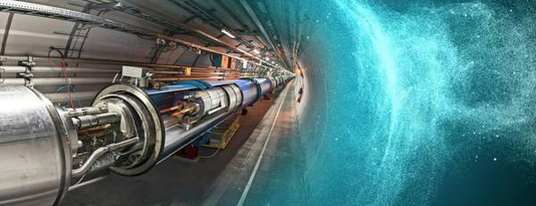 Wall Art - Photograph - Lhc Dipole In Tunnel At Cern by Cern/science Photo Library