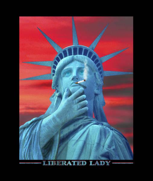 Lady Liberty Photograph - Liberated Lady by Mike McGlothlen