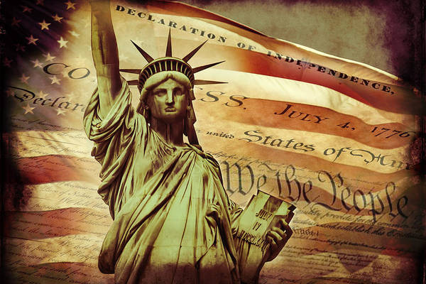 Iconic Digital Art - Declaration Of Independence by Az Jackson