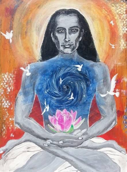 Guru Painting - Liberation - Mahavatar Babaji by Vidya Vivek