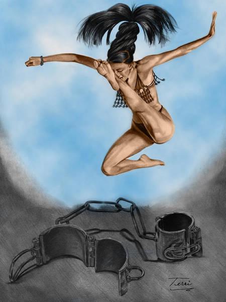 Grey Skies Drawing - Liberte by Terri Meredith