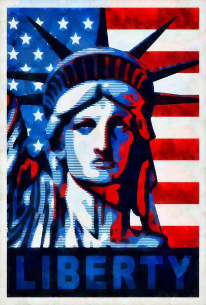 Wall Art - Mixed Media - Liberty 1 by Angelina Tamez