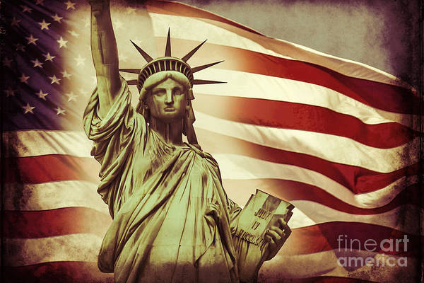 Statue Wall Art - Digital Art - Liberty by Az Jackson