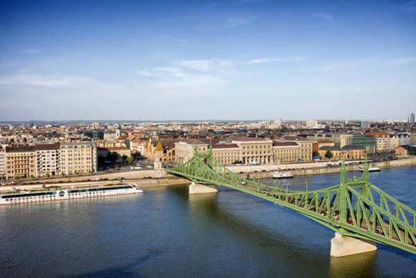 Tenement Photograph - Liberty Bridge And Budapest Cityscape by Artur Bogacki