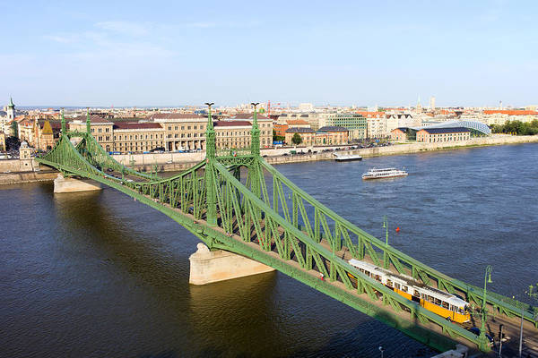 Tenement Photograph - Liberty Bridge And Budapest Skyline by Artur Bogacki
