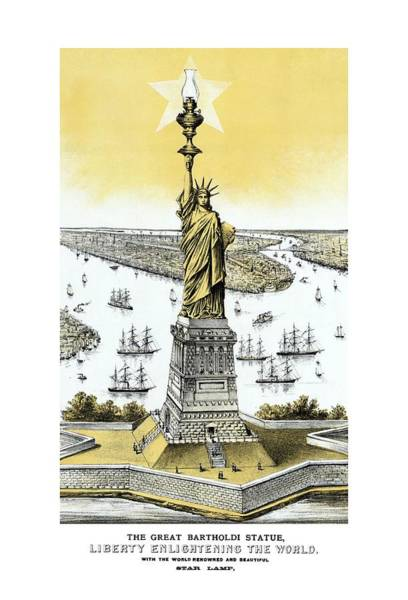 Wall Art - Painting - Liberty Enlightening The World  by War Is Hell Store