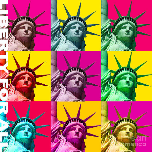Revolting Digital Art - Liberty For All by Neil Finnemore