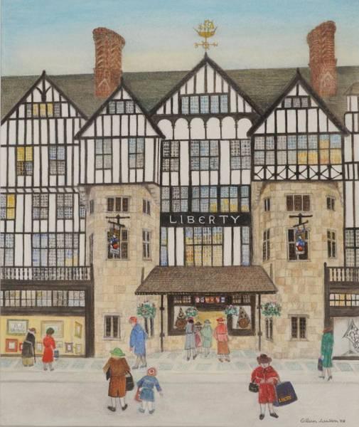 Tudor Photograph - Liberty II, 1988 Watercolour On Paper by Gillian Lawson