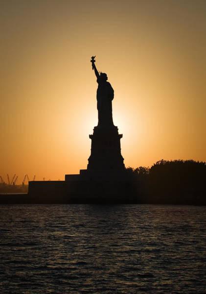 Wall Art - Photograph - Liberty Sunset by Dave Bowman