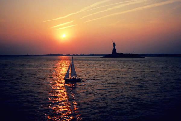 Photograph - Liberty Sunset by Joann Vitali
