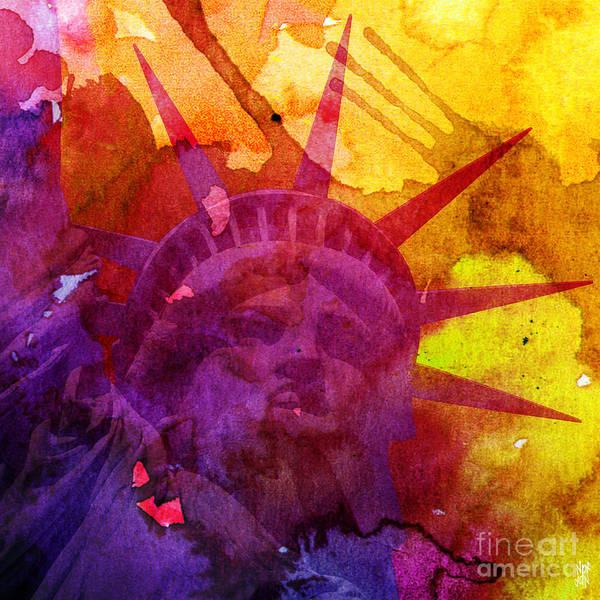 Revolting Digital Art - Liberty Watercolour by Neil Finnemore