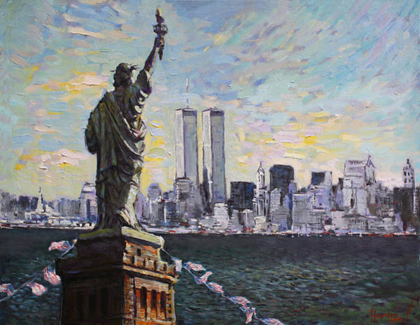 Nyc Painting - Liberty by Ylli Haruni