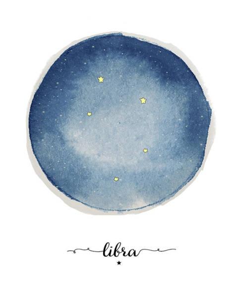 Zodiac Wall Art - Painting - Libra Circle by Amy Cummings