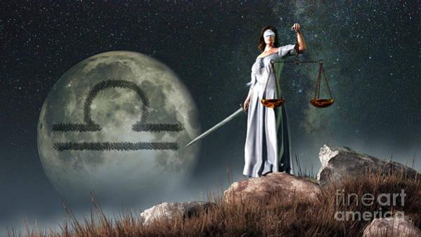 Superficial Digital Art - Libra Is The Seventh Astrological Sign by Daniel Eskridge