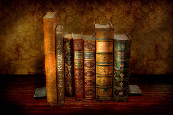 Photograph - Librarian - Writer - Antiquarian Books by Mike Savad
