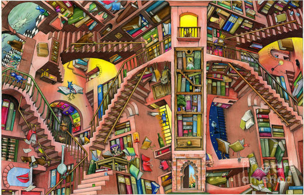 Wall Art - Digital Art - Library by MGL Meiklejohn Graphics Licensing