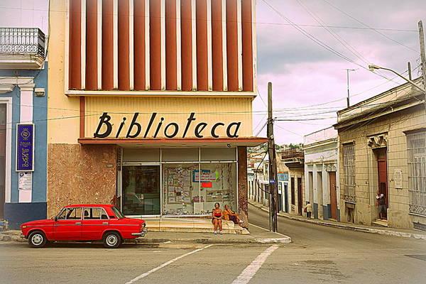 Cuba Photograph - Library Corner by Valentino Visentini