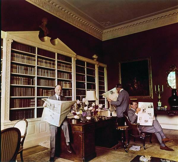 Western Society Photograph - Library In Home Of Lord Iliffe by Henry Clarke