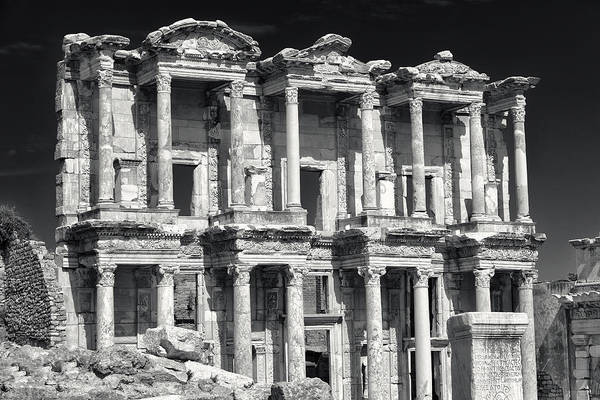Photograph - Library Of Celsus Ruins At Ephesus by Brad Brizek