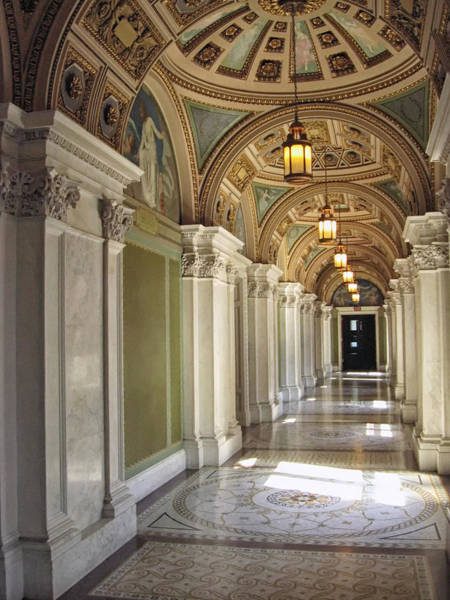 Photograph - Library Of Congress Hallway Washington Dc by Mary Lee Dereske