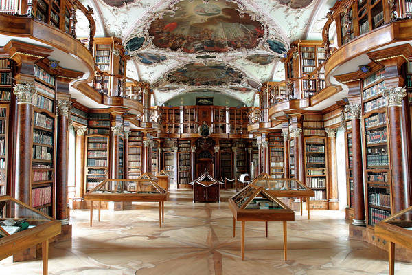 Wall Art - Photograph - Library Of St Gall's Abbey by Michael Szoenyi/science Photo Library