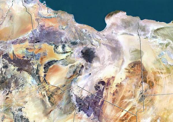 Landsat 7 Wall Art - Photograph - Libya by Planetobserver/science Photo Library