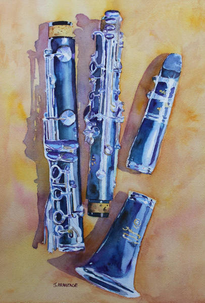 Clarinet Wall Art - Painting - Licorice Pieces by Jenny Armitage