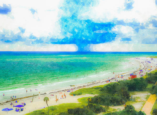 Digital Art - Lido Beach In Summer by Susan Molnar