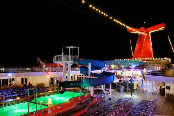 Photograph - Lido Deck At Night by Jason Politte