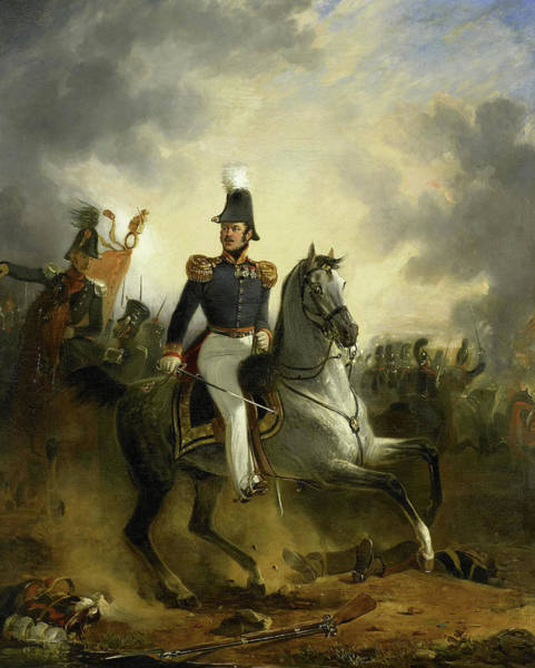 Wall Art - Drawing - Lieutenant-general Frederik Knotzer In The Battle by Litz Collection