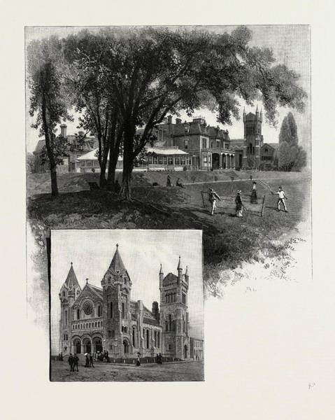 Toronto Drawing - Lieutenant-governors Residence Top St by Canadian School