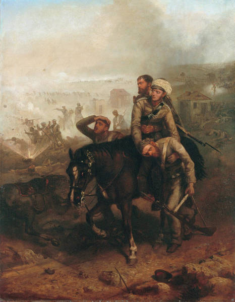 Wounded Soldier Painting - Lieutenant William George Cubitt by Chevalier Louis-William Desanges