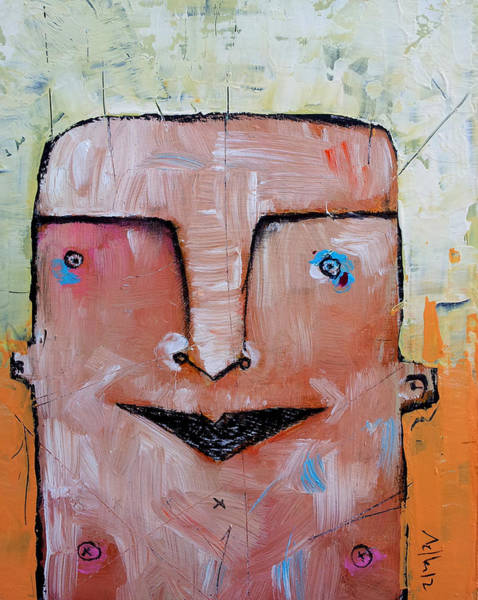 Expression Painting - Life As Human No. 37 The Lost Tribe by Mark M  Mellon