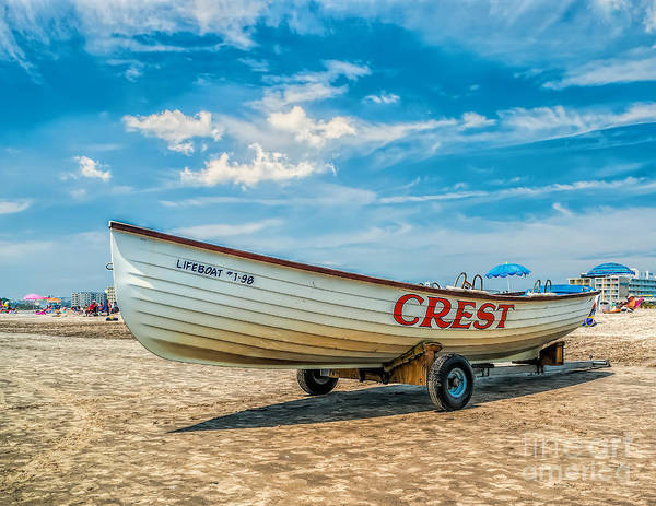 Wall Art - Photograph - Life Boat In Wildwood Crest by Nick Zelinsky