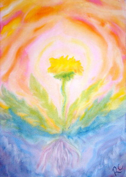 Dandilions Painting - Life Forces by Rachel Cruse